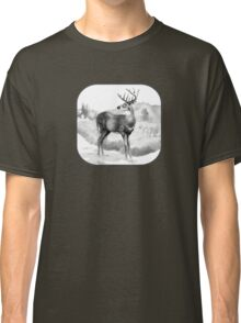 White-tail Stag Sniffing the Air Classic T-Shirt