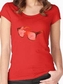 Strawberry Raybans Women's Fitted Scoop T-Shirt