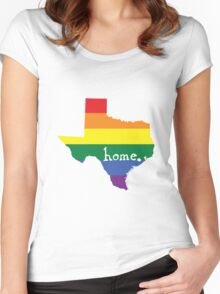 Texas gay pride vector state sign Women's Fitted Scoop T-Shirt