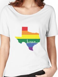 Texas gay pride vector state sign Women's Relaxed Fit T-Shirt