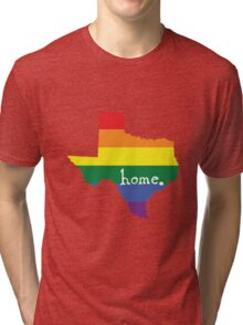 Texas gay pride vector state sign Tri-blend T-Shirt