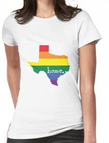 Texas gay pride vector state sign Womens Fitted T-Shirt