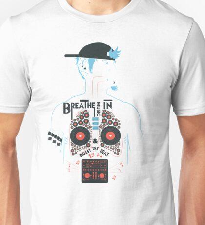 Breathe Music In. Unisex T-Shirt