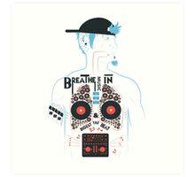 Breathe Music In. Art Print