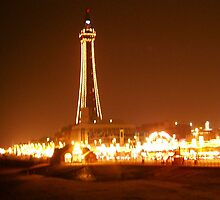 Blackpool Tower at night by GeorgeOne