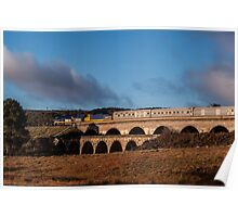 The Indian Pacific crossing the Twin Viaducts, Lithgow NSW  Poster