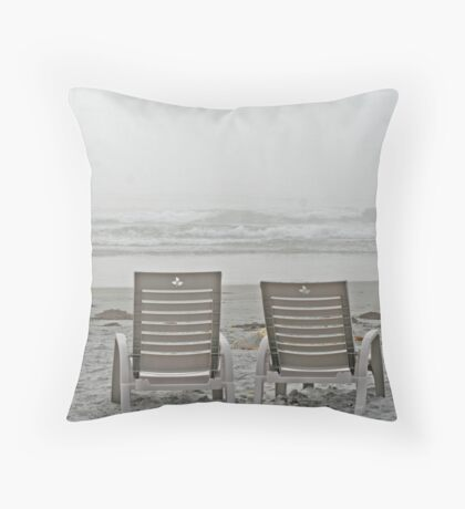 Fogged In - White Point, Nova Scotia Throw Pillow