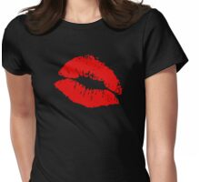 Smoochie Lips Womens Fitted T-Shirt