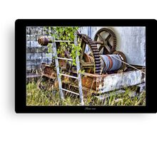old gear hdr Canvas Print