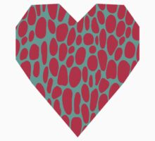 0005 Amaranth Dots with Complementary Color Kids Clothes