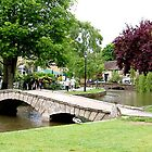 Bridge at Bourton-On-The-Water by GeorgeOne