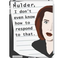 Mulder... iPad Case/Skin