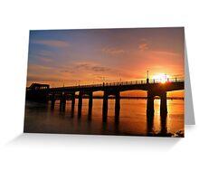 Sunshine Over The Kincardine Bridge, Scotland. Greeting Card
