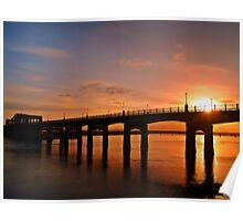 Sunshine Over The Kincardine Bridge, Scotland. Poster