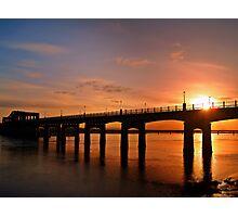 Sunshine Over The Kincardine Bridge, Scotland. Photographic Print