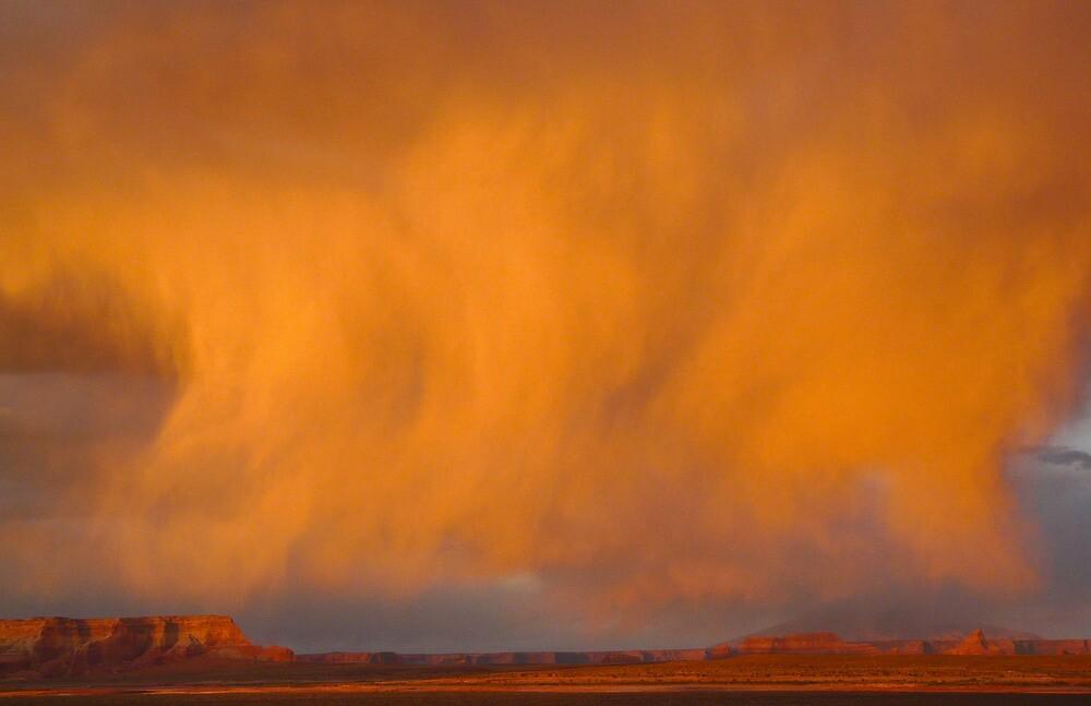 Cloud burst at sunset by Linda Sparks