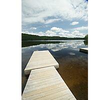 Legrou Lake Boat Dock Photographic Print