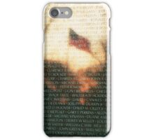 US Flag Reflection on Vietnam War Memorial iPhone Case/Skin