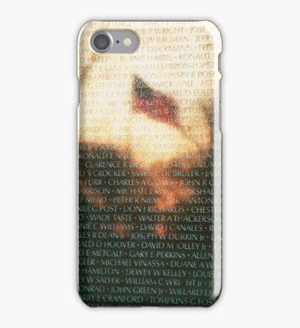 US Flag Reflection on Vietnam War Memorial iPhone Case/Skin
