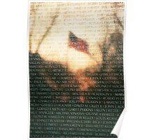 US Flag Reflection on Vietnam War Memorial Poster