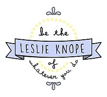 Be the Leslie Knope of Whatever You Do by racheladditon