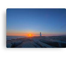 Peggy's Cove Light - Before Sunset Canvas Print