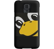 linux tux penguin eyes Samsung Galaxy Case/Skin