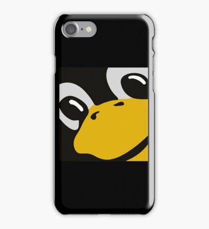 linux tux penguin eyes iPhone Case/Skin
