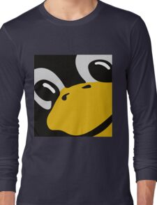 linux tux penguin eyes Long Sleeve T-Shirt