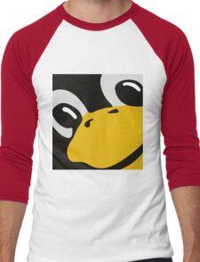 linux tux penguin eyes Men's Baseball ¾ T-Shirt