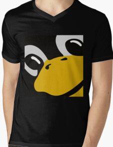 linux tux penguin eyes Mens V-Neck T-Shirt
