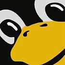 linux tux penguin eyes by SofiaYoushi