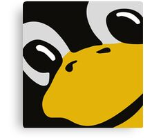 linux tux penguin eyes Canvas Print