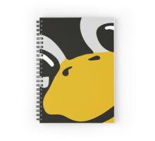 linux tux penguin eyes Spiral Notebook