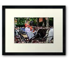 The Queen Looked at Me:-) Oh My... Framed Print
