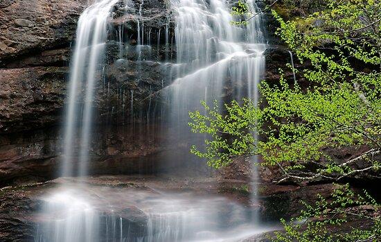 Beulach Ban Falls - Detail by Stephen Beattie