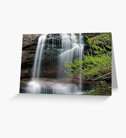 Beulach Ban Falls - Detail Greeting Card