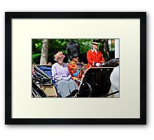 The Queen and Prince Philip: Trooping the Colours, London, Pall Mall, June 2010 Framed Print
