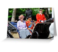 The Queen and Prince Philip: Trooping the Colours, London, Pall Mall, June 2010 Greeting Card