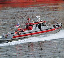 Portland Fire Boat by Bob Hortman