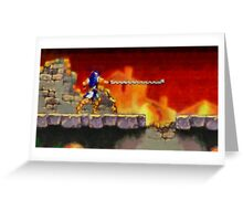 Castle Vania retro painted pixel art Greeting Card