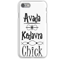 Avada Kedavra Chick iPhone Case/Skin
