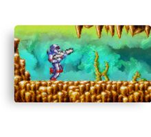 Turrican retro painted pixel art Canvas Print