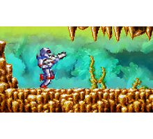 Turrican retro painted pixel art Photographic Print