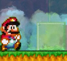 Super Mario retro painted pixel art by smurfted