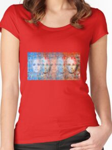 The passage fragment - phases and frequencies Women's Fitted Scoop T-Shirt