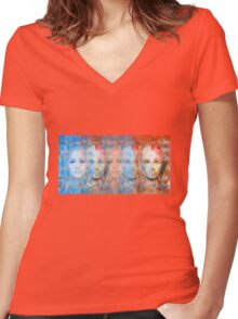 The passage fragment - phases and frequencies Women's Fitted V-Neck T-Shirt