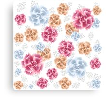 Beautiful Colourful Carnations Canvas Print