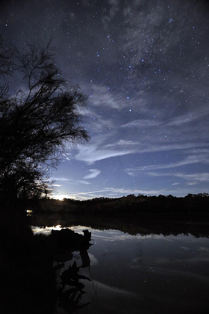 Murray River Moonrise by Wayne England
