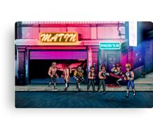 Double Dragon pixel art Canvas Print